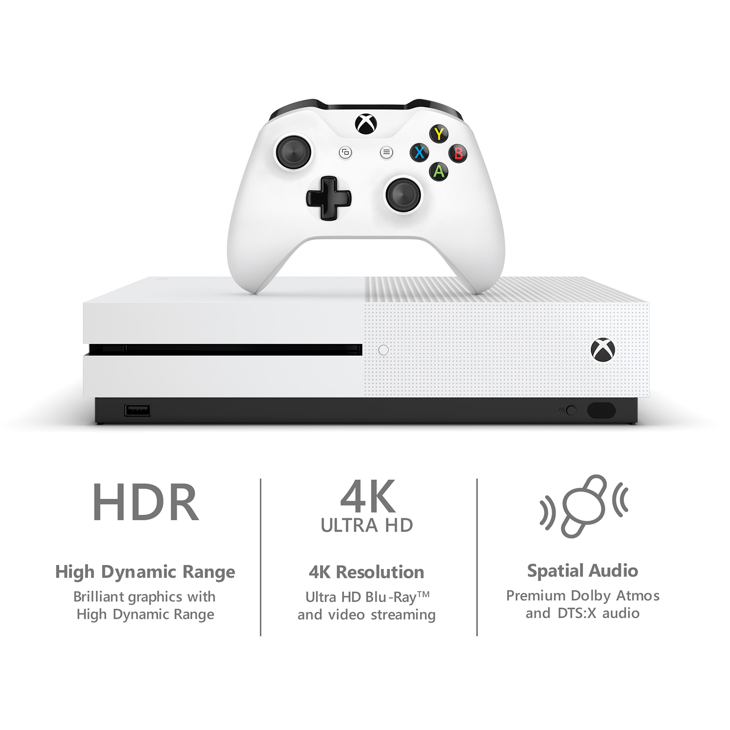 Microsoft Xbox One S 1TB Console, White, 234-00001 Previous Generation –  Shopzlay